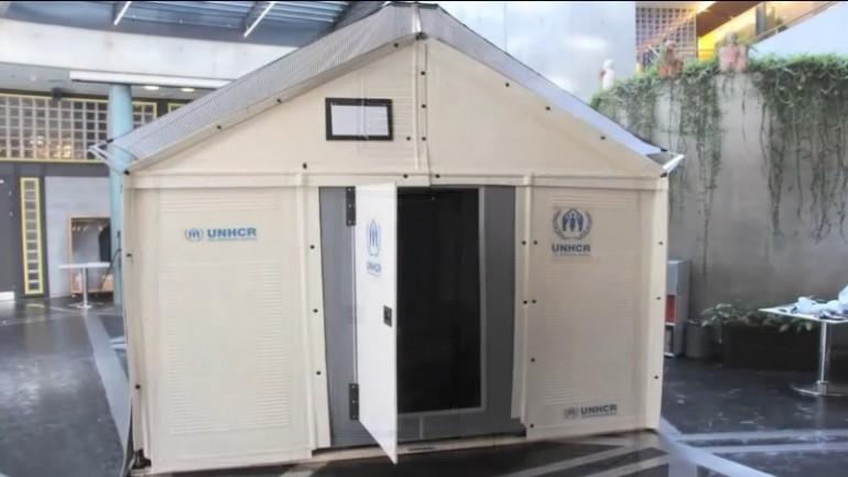 Ikea lancia per beneficenza il kit per profughi live sicilia - Casa prefabbricata ikea ...