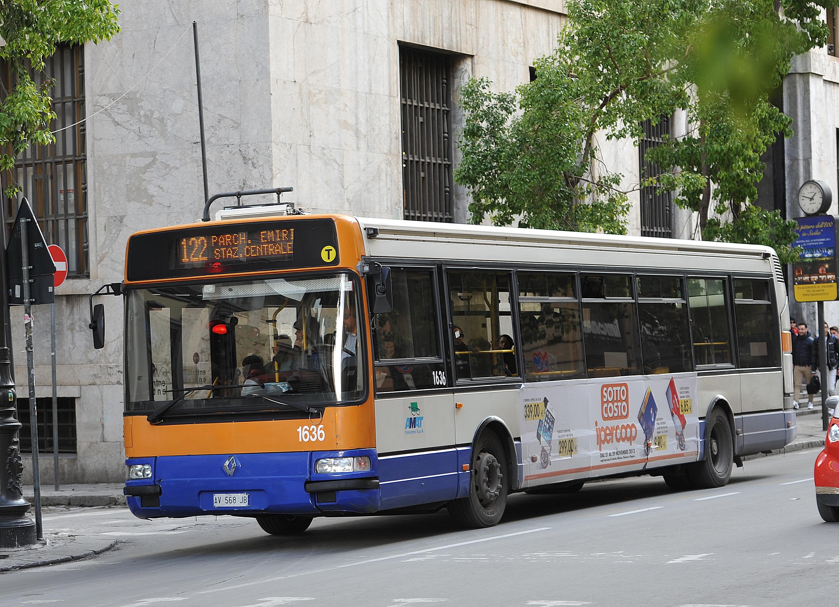 Aumenta il biglietto per i bus Palermo fra le città più ...