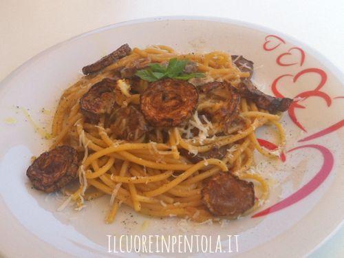 Ricetta del giorno pasta con le zucchine fritte live for La zucchina