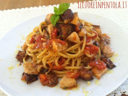 Ricetta Del Giorno Spaghetti Pesce Spada E Melanzane Live Sicilia