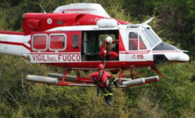 Elicottero Vigili Del Fuoco Verde : Precipita elicottero due morti live sicilia
