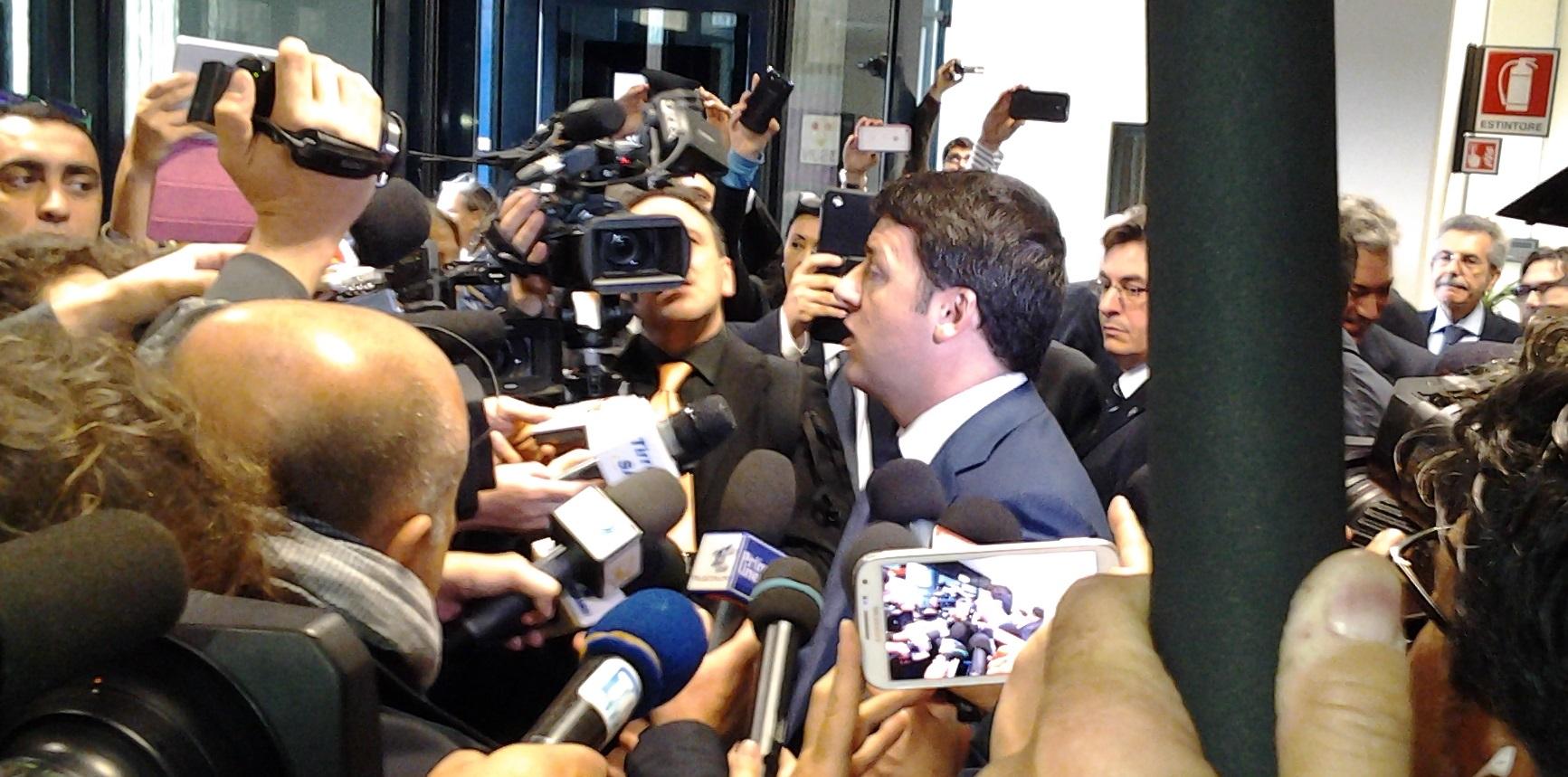 Matteo Renzi giornalisti