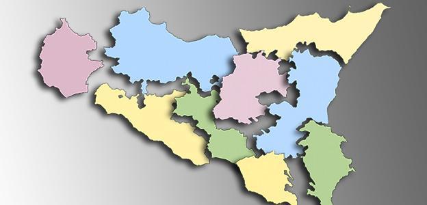, Agrigento, Caltanissetta, Enna, Messina, Ragusa, Siracusa, Trapani