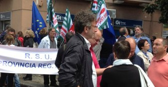 Province, la protesta dei lavoratori