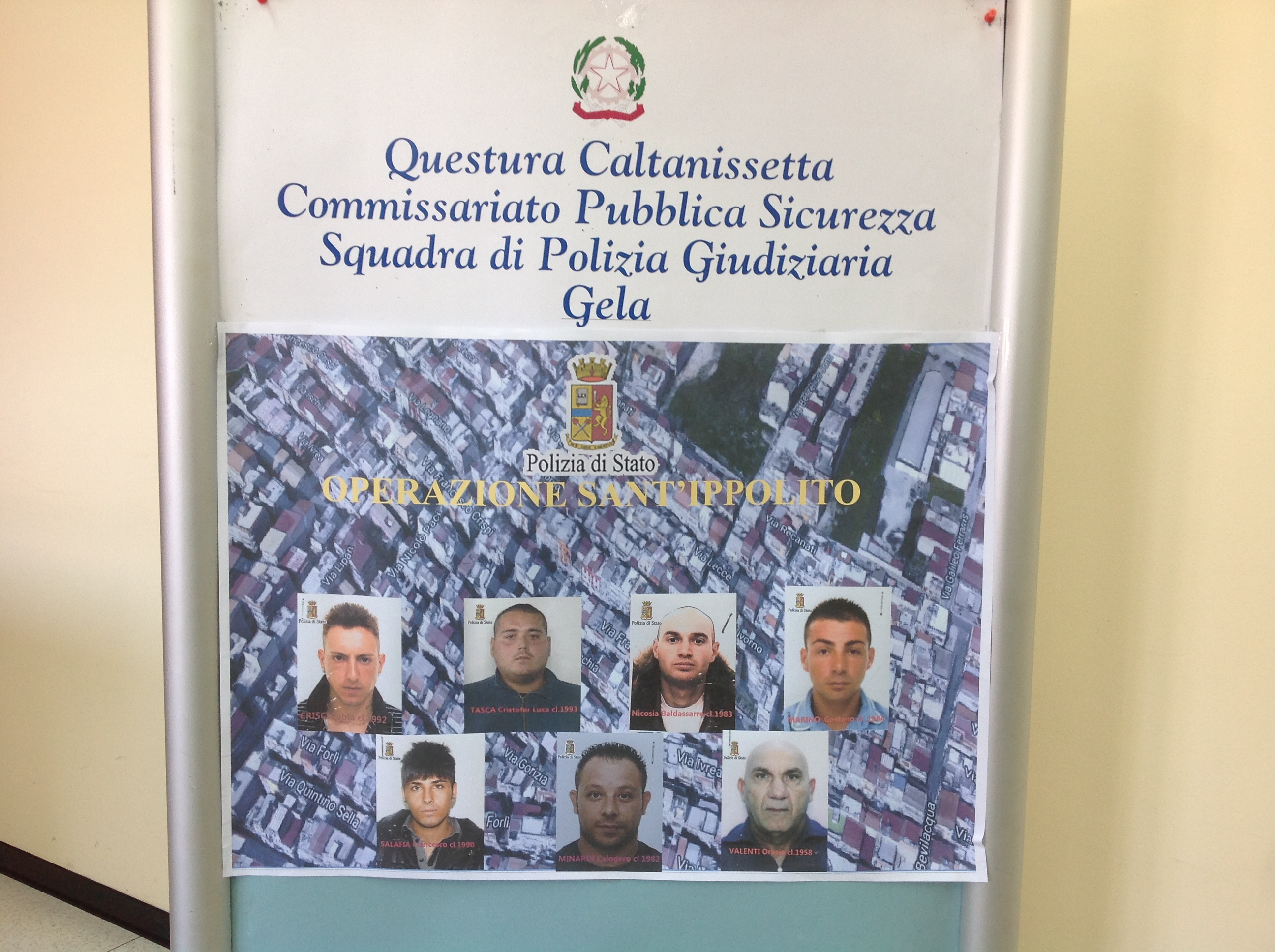 Droga e furti in strutture comunali: sette persone coinvolte a Gela