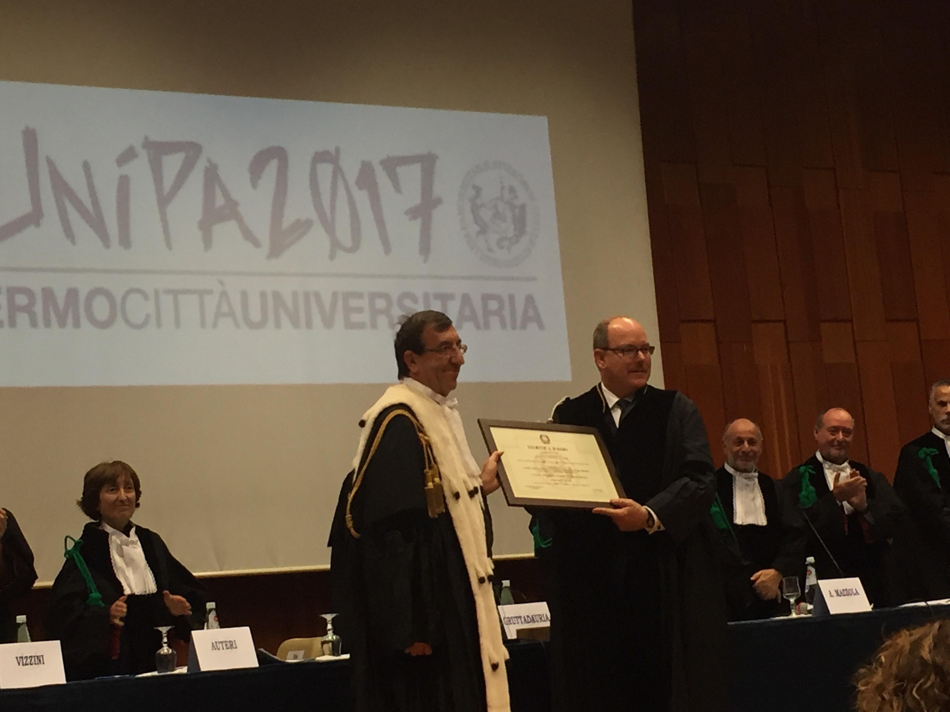 Palermo, laurea honoris causa in Ecologia marina al principe Alberto