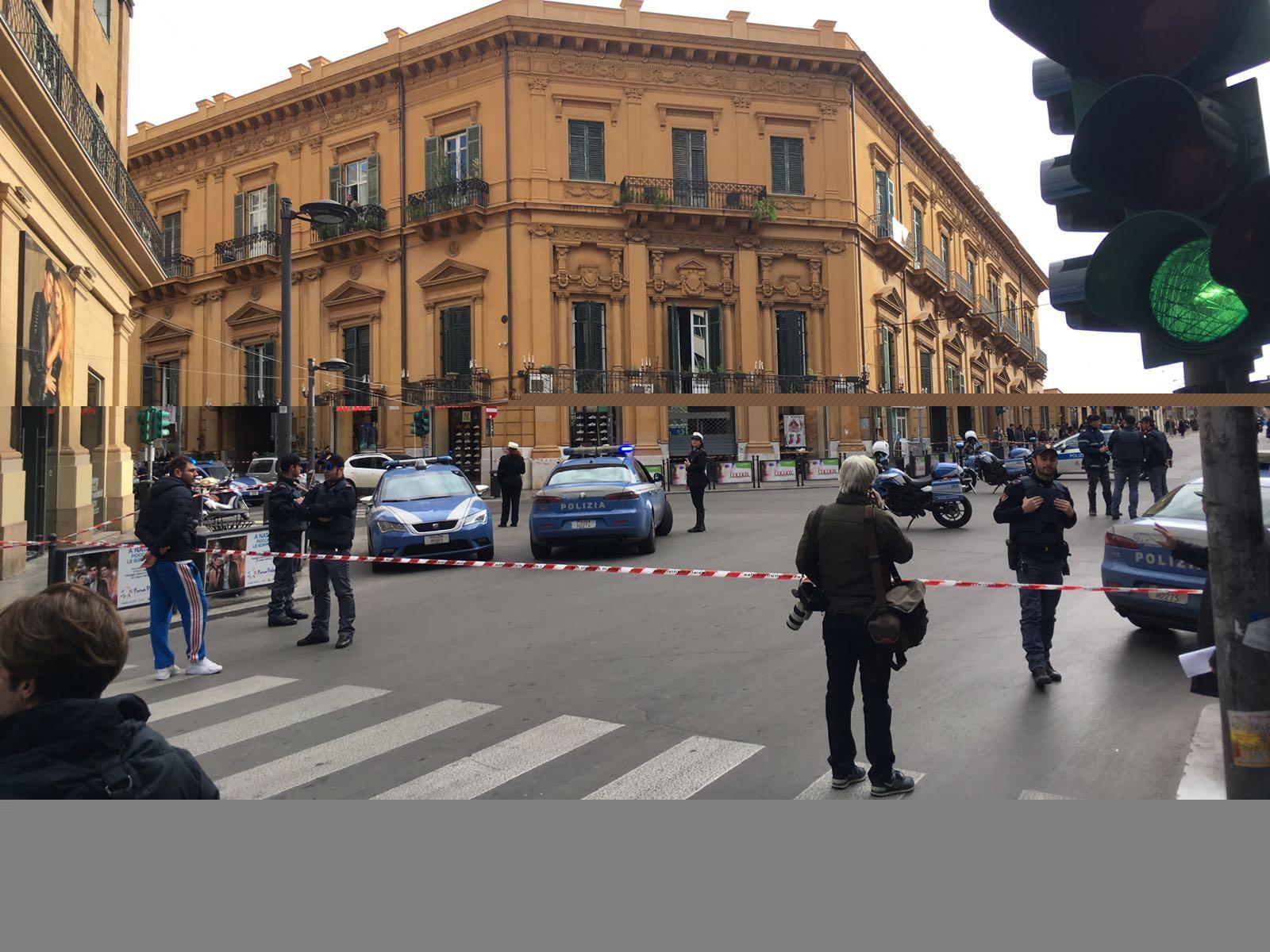 Allarme pacco bomba a Palermo