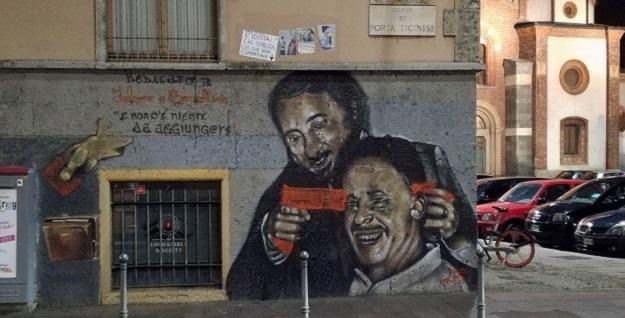 Vandalizzato il graffito antimafia di corso di Porta Ticinese