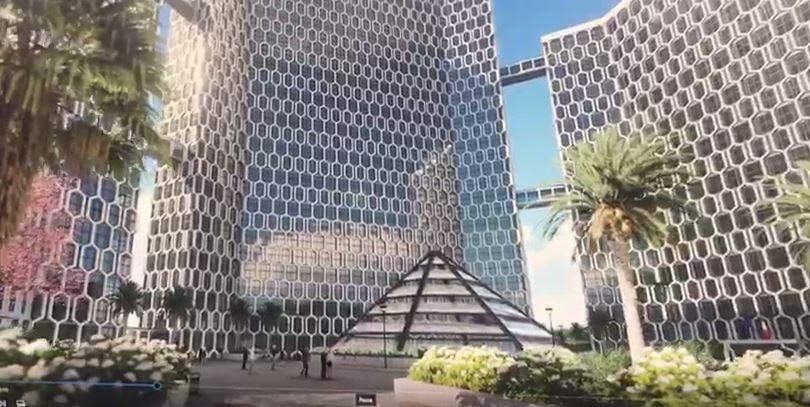 Tre grattacieli svincoli parcheggi la nuova 39 casa 39 della for Centro uffici roma