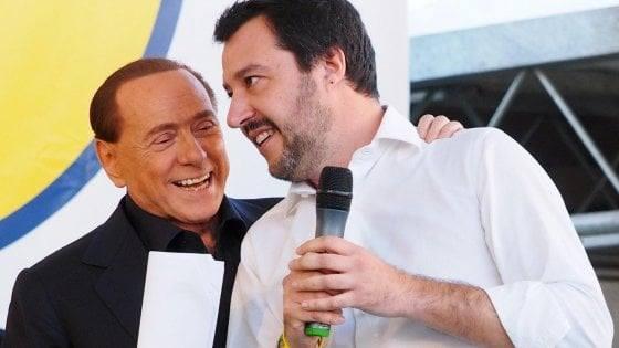 Salvini da Berlusconi, sul tavolo futuro , tasse e Tv