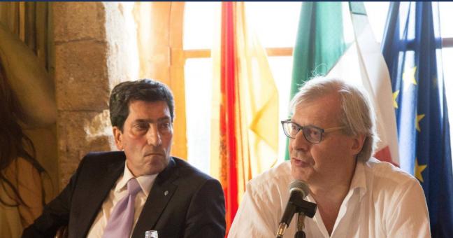 Nella foto Benham con Vittorio Sgarbi