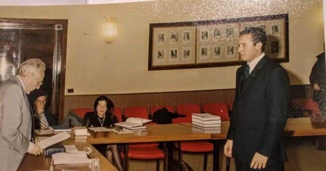 Nella foto a destra Delfino Siracusano, a destra Giovanni Lotà