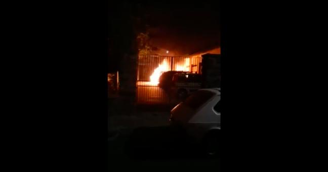 Incendio auto Mancuso