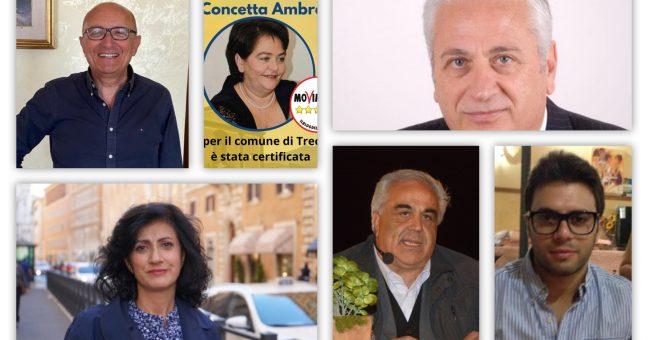 I candidati a Trecastagni.