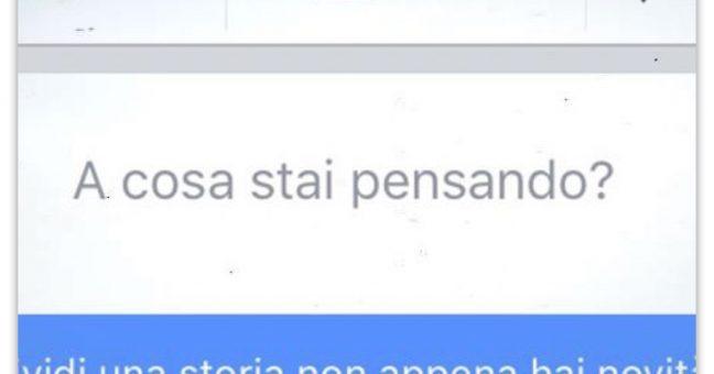 Post choc su Facebook.