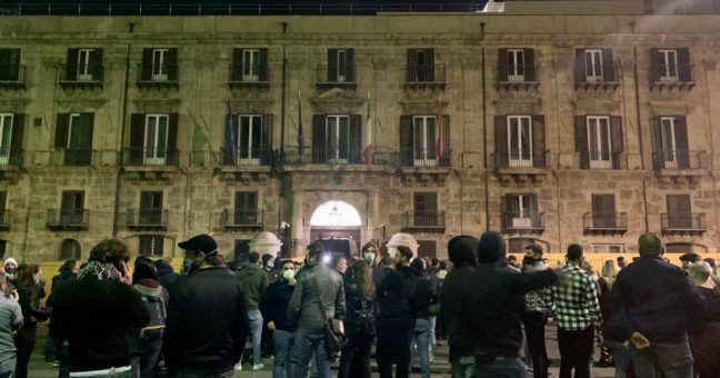protesta Palermo Covid